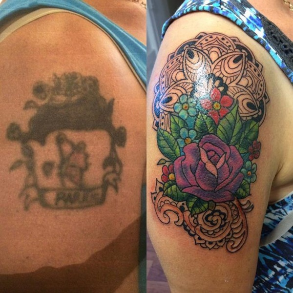 tattoo cover up grim tattoo til blomster tattoo